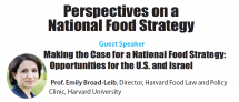 Perspectives on a National Food Strategy